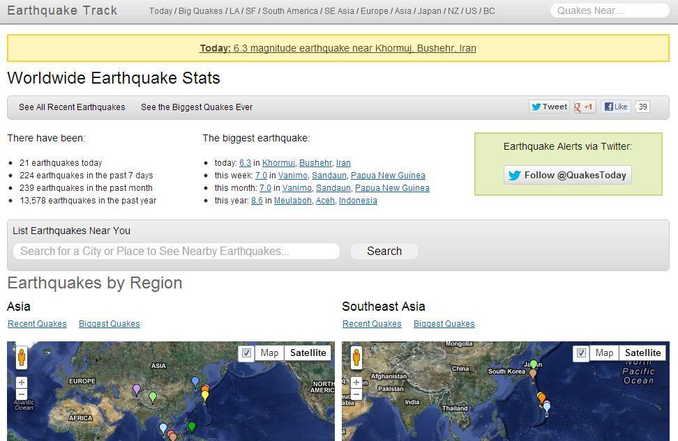 Where to track earthquakes near you and around the world