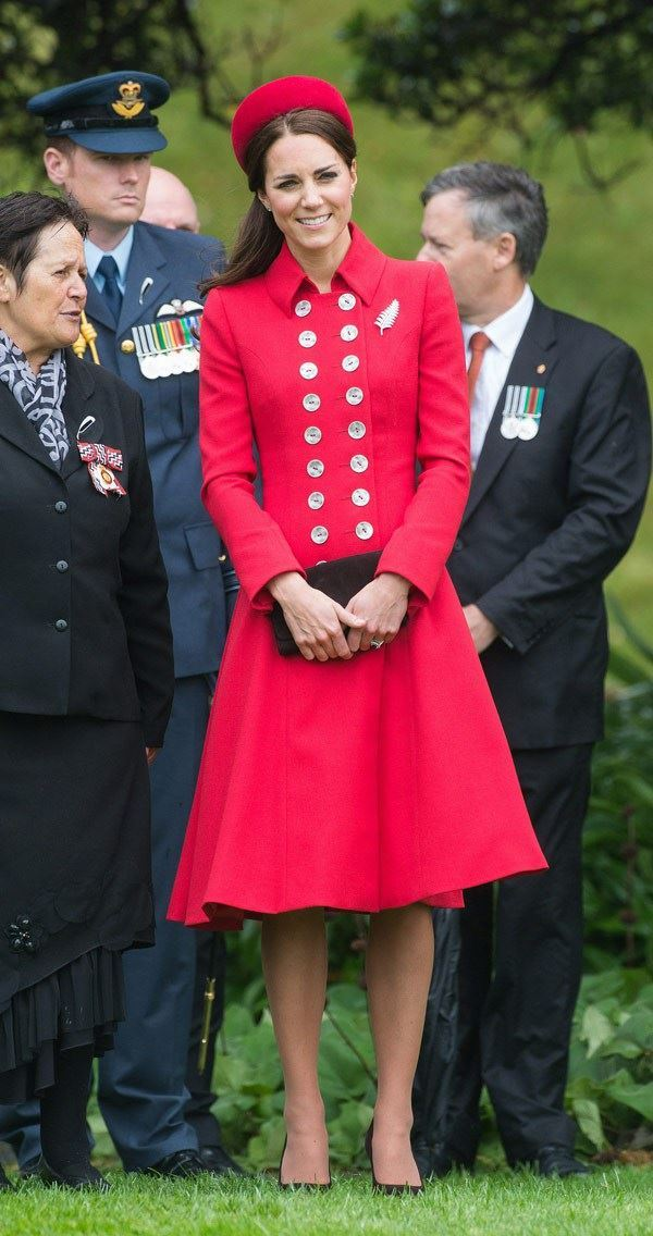Kate Middleton and her gorgeous red royal look