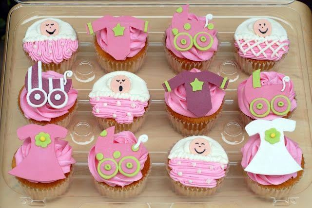 Cute cupcake ideas for a baby shower