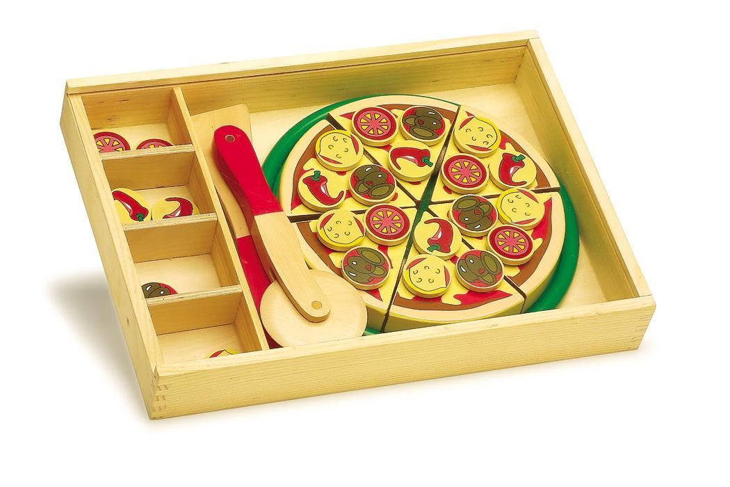 Plastic and Wooden kids Pizza toys