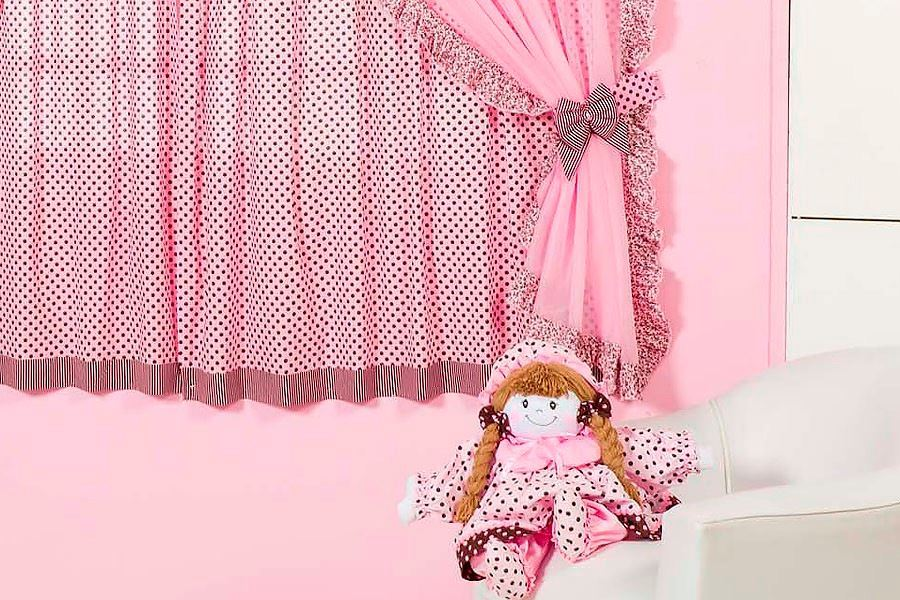 Pink Curtains designs for Girls rooms
