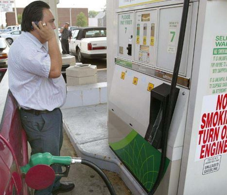 Is it true that using a cellphone at a gas station is a fire risk?
