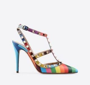 Price of colorful Valentino bag and shoes from 2015 Spring collection