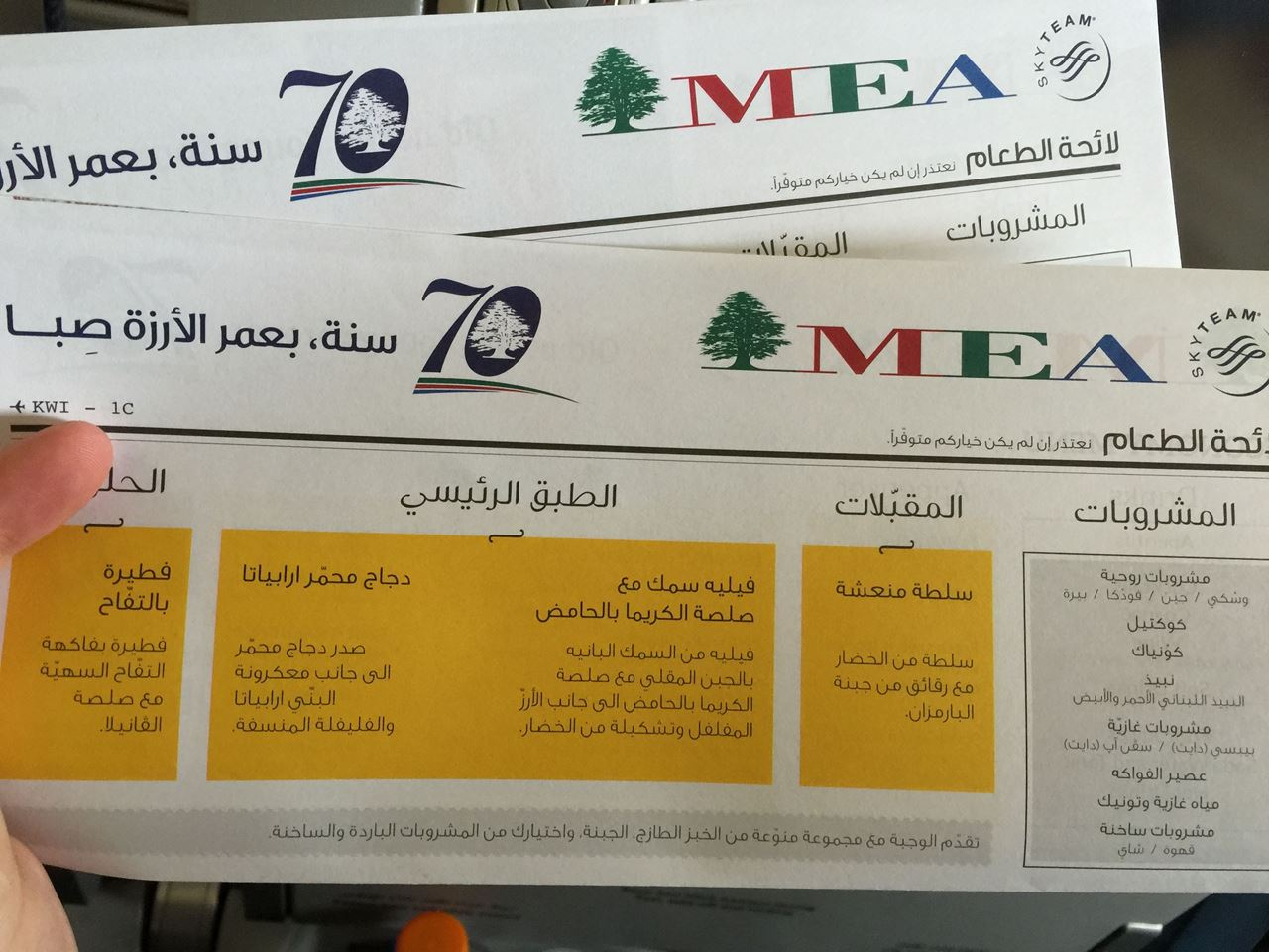 Our roundtrip with the Middle East Airlines MEA