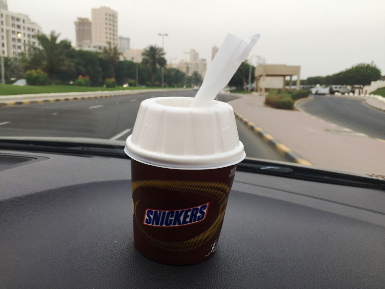 Snickers McFlurry from McDonald's ... perfect