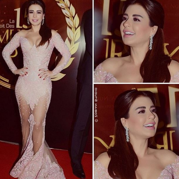 Lebanese actress Maguy BouGhoson at the Murex D'or