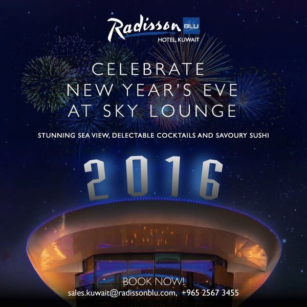 New Year's Eve offer at Sky Lounge Radisson Blu