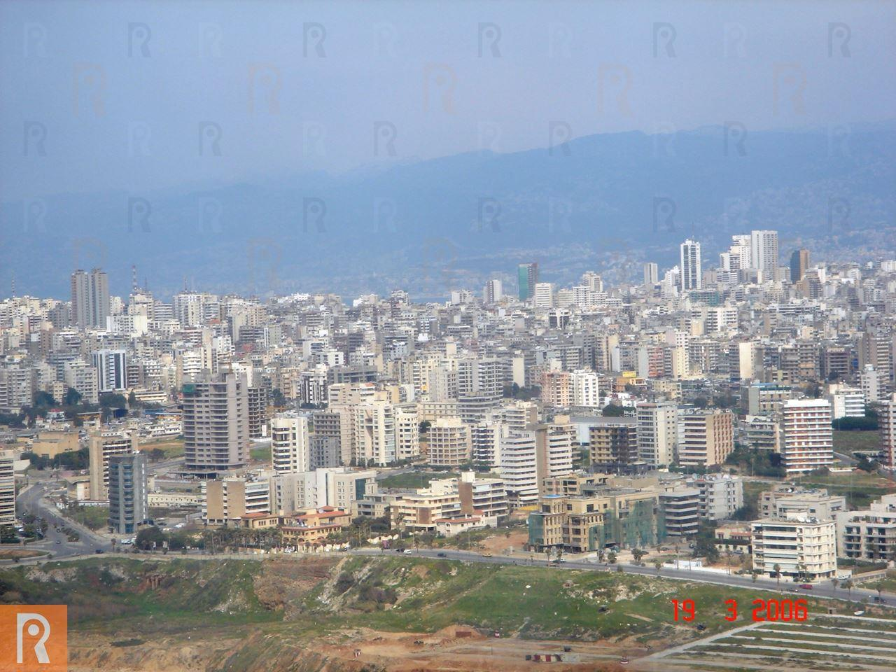 Photos of Beirut from the plane in 2006