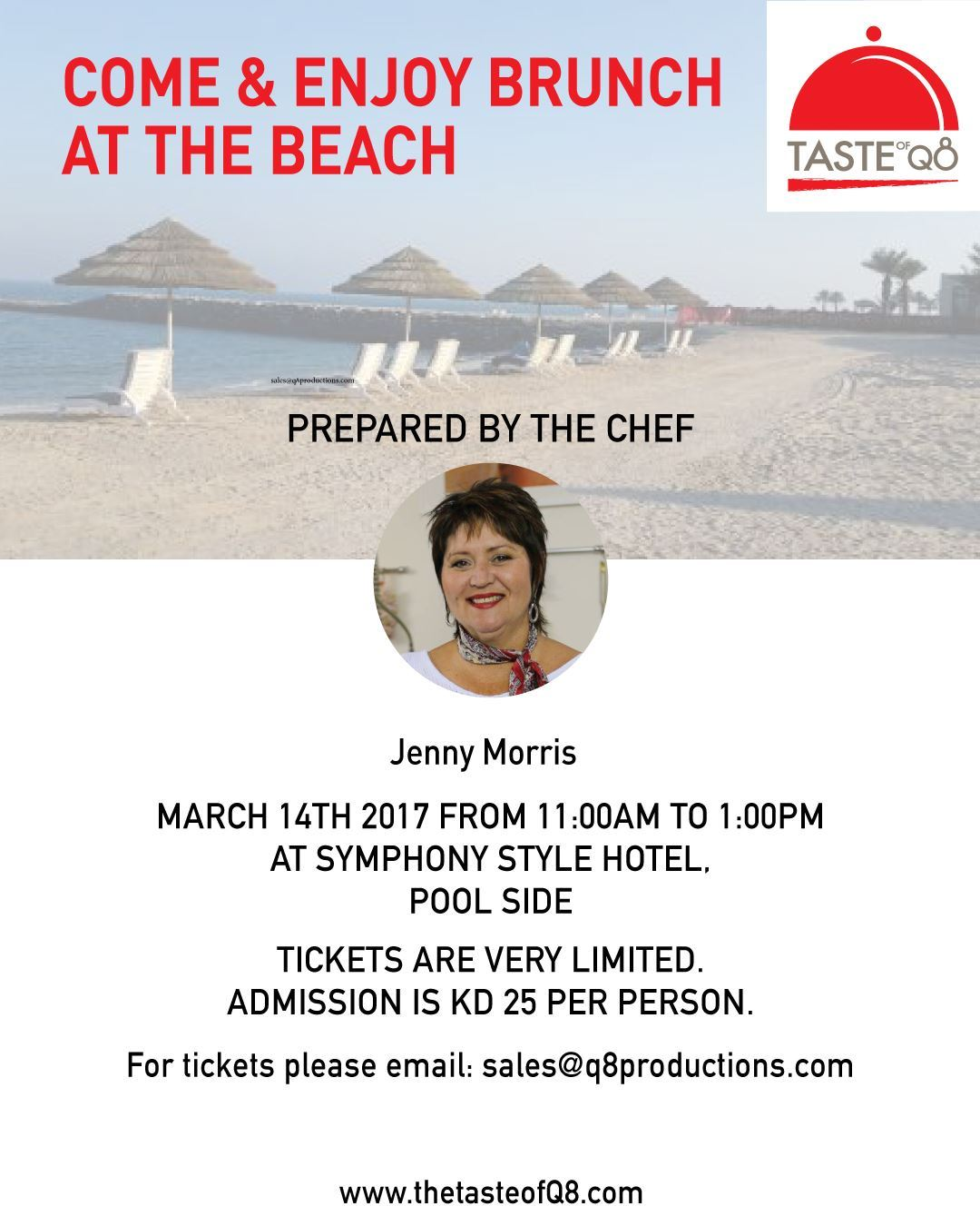 Come & Enjoy Brunch at the Beach - by Chef Jenny Morris