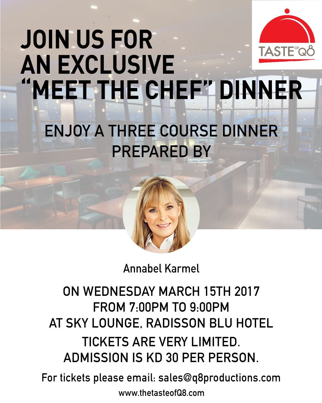 """An Exclusive """"Meet The Chef"""" Dinner - by Annabel Karmel"""