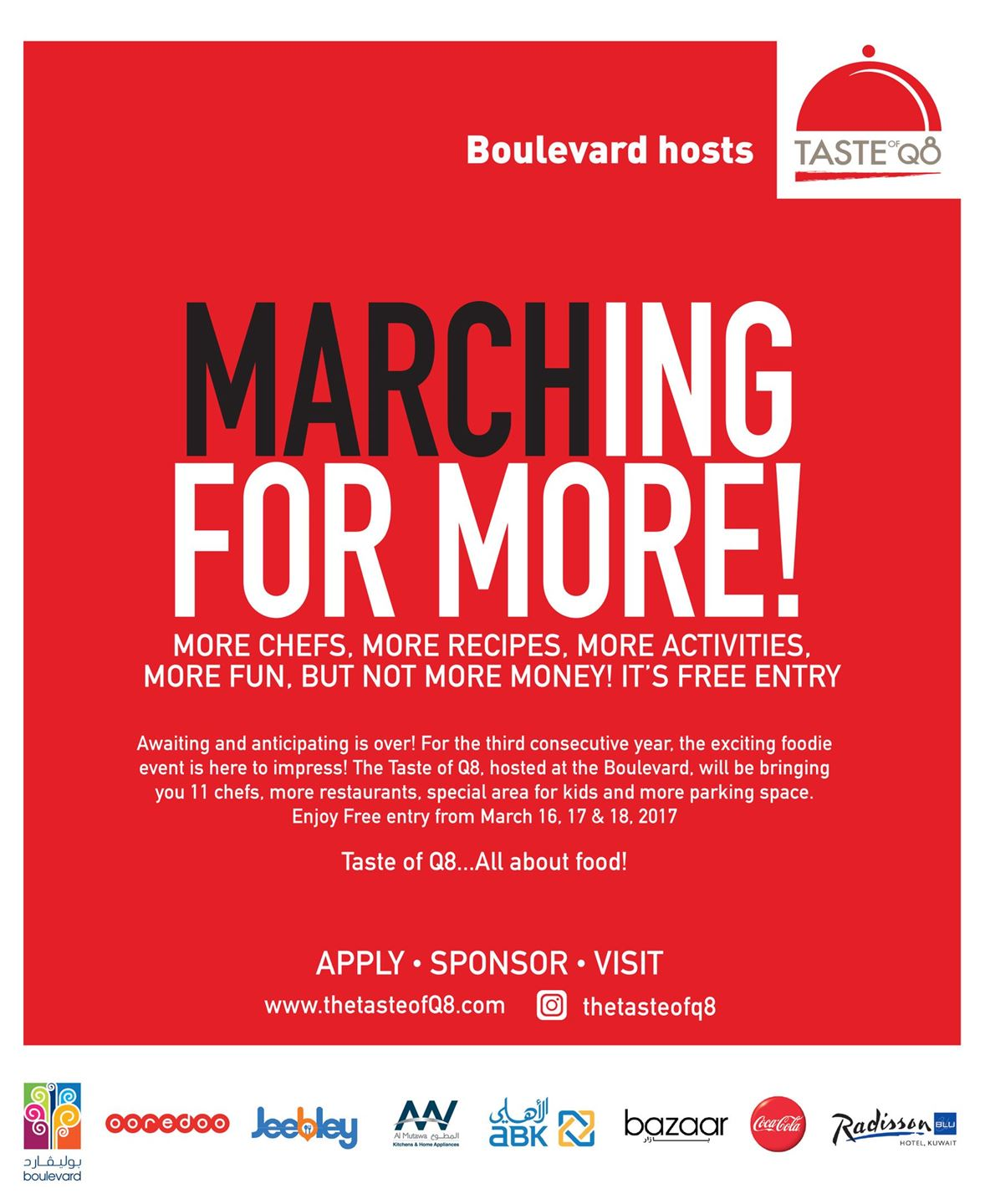 """""""Marching For More!"""".. Taste of Q8 hosted at the Boulevard"""