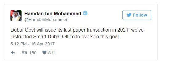 Dubai Government to go Paperless in 2021
