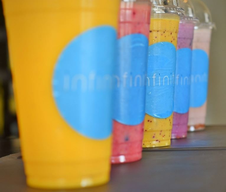 Ice cream and yoghurt juices at Infinity Pool Restaurant
