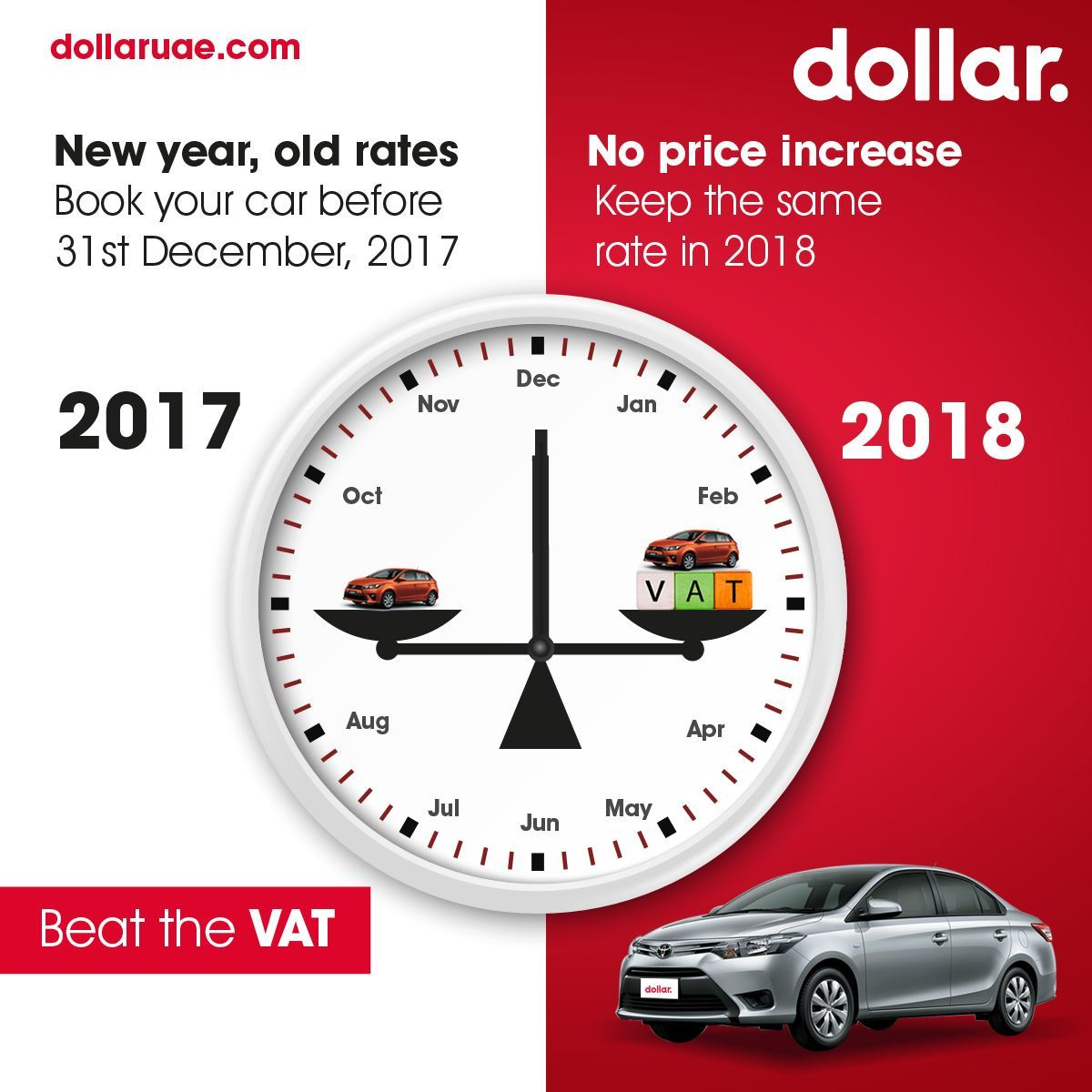 Ring in the new year with exciting car rental savings from Dollar