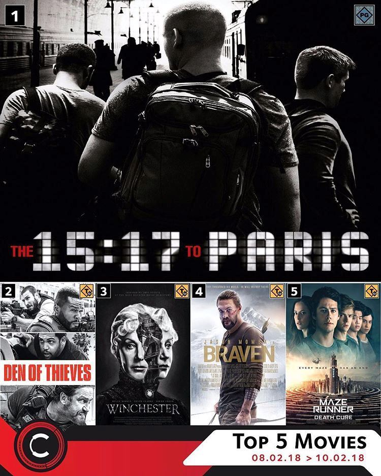 Top 5 movies that are Currently Showing at Cinescape