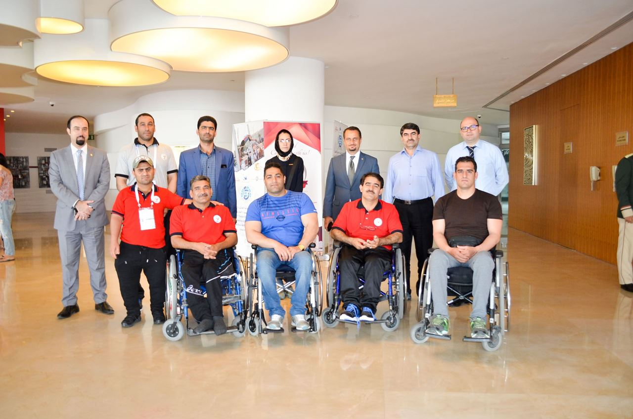 Participants of 4th Fazza Para Archery World Ranking Event hosted at Al Bustan Centre & Residence