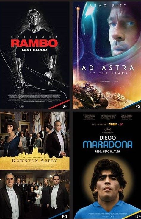 New Movies Showing at Cinescape Cinemas - 19 September 2019