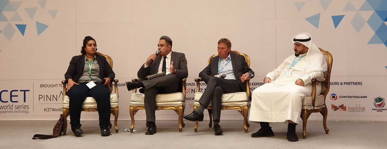 From Left to Right:<br />- Amani Khalaf, Marketing Leader, Careem<br />- Yusuf Jehangir, AGM - Head of Marketing and Products, Ahli Bank of Kuwait<br />- Andrew Ward, VP - Marketing & Customer Experience, Jazeera Airways<br />- Jafar Mousawi, CEO, SquareMedia