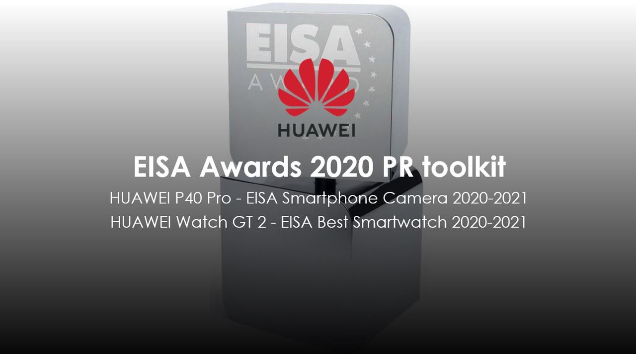 """Huawei wins Two EISA awards for """"Best Smartphone Camera"""" with the HUAWEI P40 Pro and """"Best Smartwatch"""" for HUAWEI WATCH GT 2"""