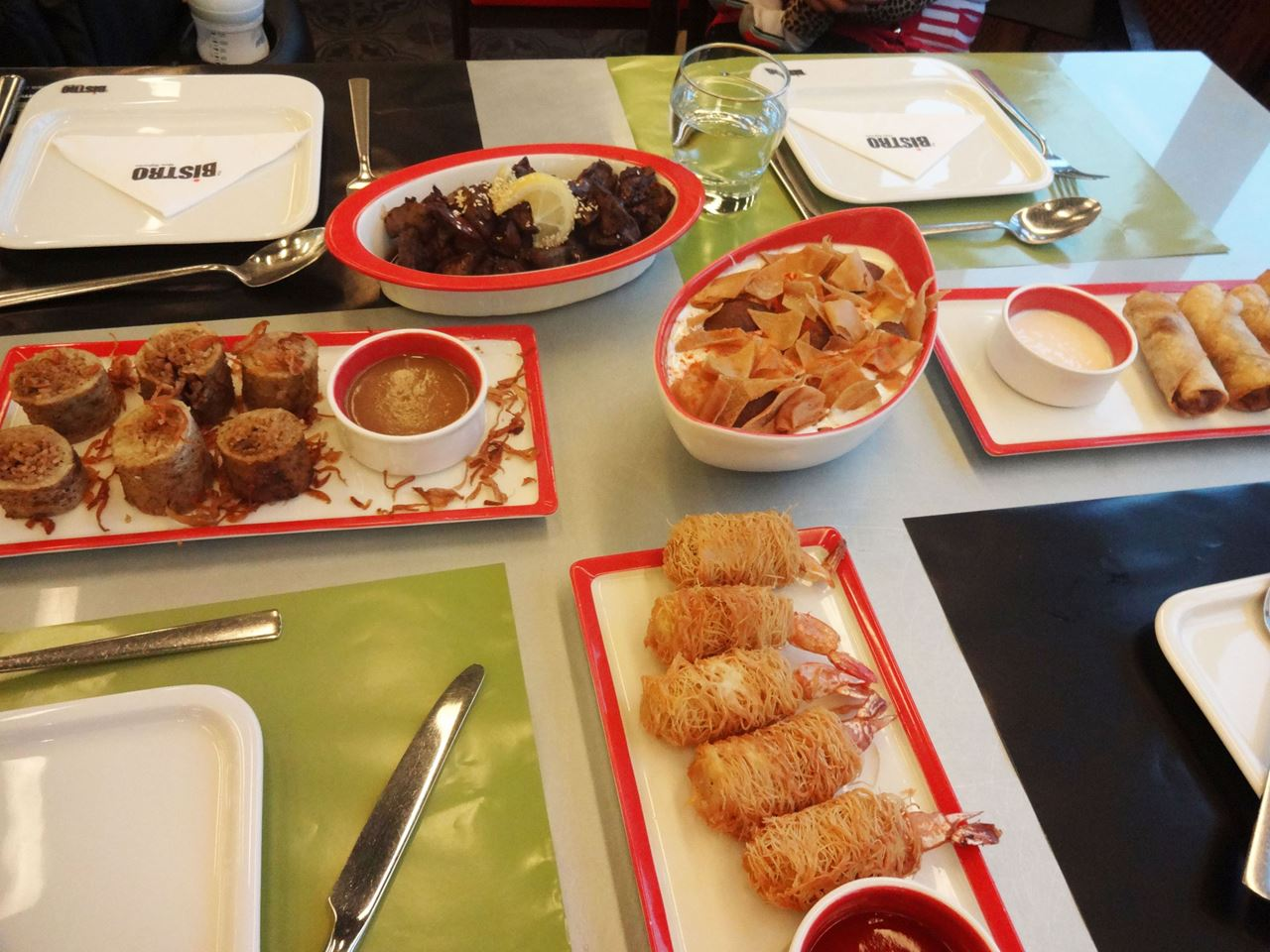 Our lunch at Bistro Mais Al-Ghanim