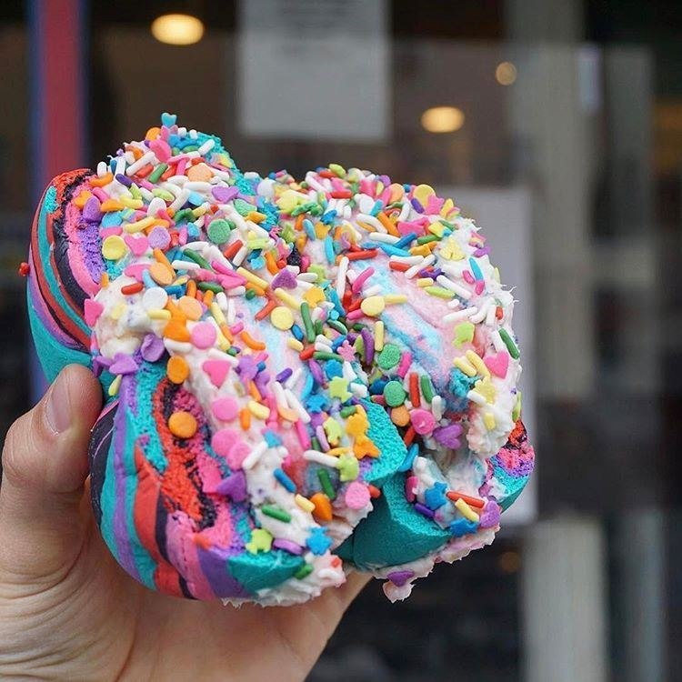 The Bagel Store Colorful Rainbow Bagels