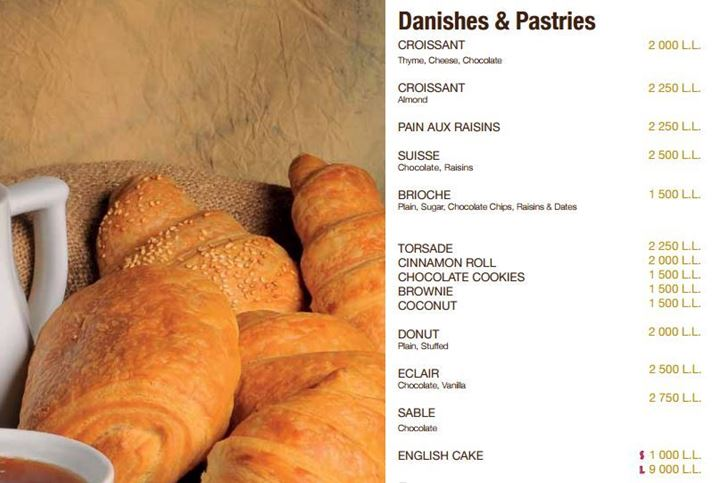 Wooden Bakery Danishes and Pastries menu