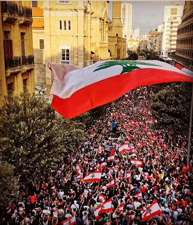 The Lebanese Revolution 2019 .... One Heart From North to South