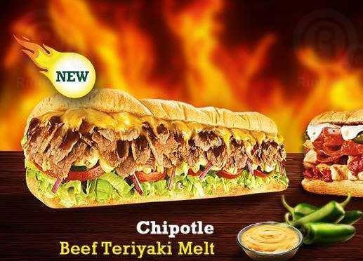 Subway ... a meal of your creation and a taste of your choice