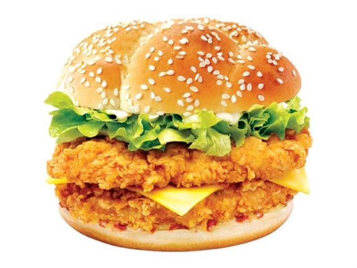 Calories in KFC Mighty Zinger
