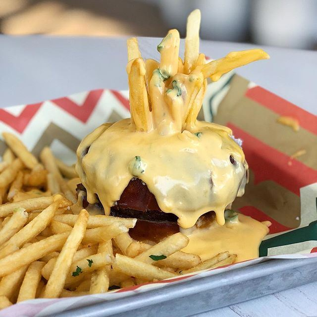Don't Miss Fondue Burger at Clinton Hall in New York