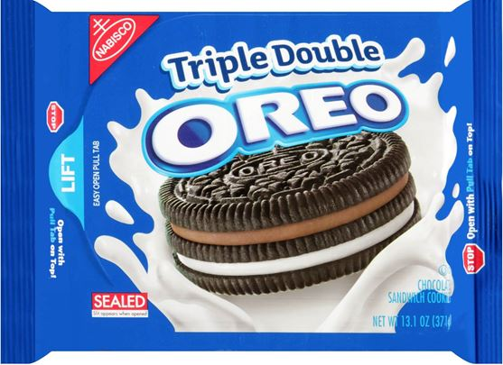 Nabisco Oreo Triple Double Chocolate